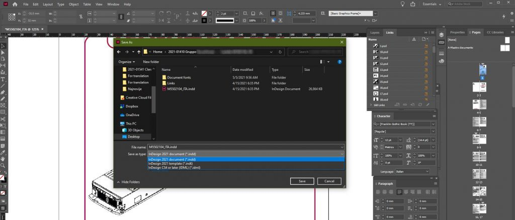 How to Use InDesign Files for Translation Requests